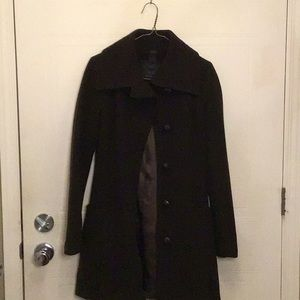 Mackage dark brown wool coat